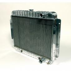 Full Size Chevy Polished Aluminum Radiator, Griffin Pro Series, 1965