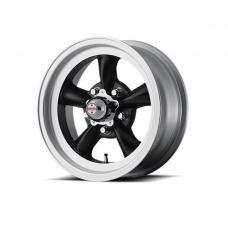 American Racing Torq-Thrust D Black W/ Machine Lip, 15X4.5
