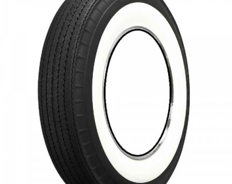 """Full Size Chevy Tire, Original Appearance, Radial Construction, 8.00 x 14"""" With 3"""" Whitewall, 1958-1961"""