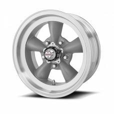 American Racing Torq-Thrust D Gray Wheel W/ Machine Lip, 16X8