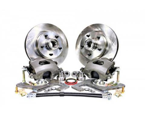 Chevy Front Disc Brake Conversion Kit For Stock Spindles, Manual, 1949-1954
