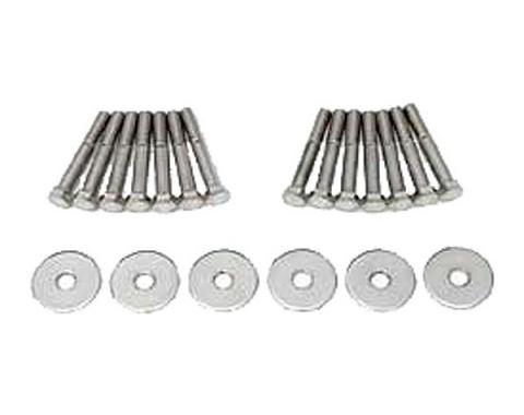 Full Size Chevy Body Mounting Bolt & Washer Set, Stainless Steel, Convertible, 1965-1966