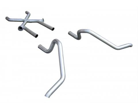 """Chevy B-Body Pypes No-Muffler Exhaust System, 2.5"""", Pipes Only, Crossmember Back W/X-Change, 1965-1969"""