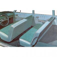 Full Size Chevy Seat Cover Set, 9-Passenger, Bel Air Wagon,1963