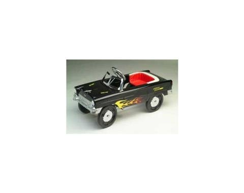 Chevy Pedal Car, Black With Flames, 1955