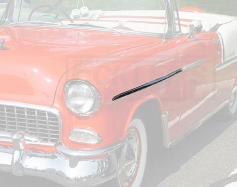 Chevy Front Fender Molding, Bel Air, Left, Show Quality, 1955