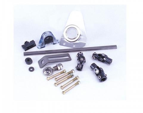 Flaming River 1957 Chevy Manual Rack & Pinion Cradle Kit - Polished Column Shift Tilt Column