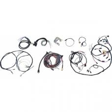 Chevy Wiring Harness Kit, V8, Manual Transmission, With Alternator, 210 2-Door Wagon, 1955