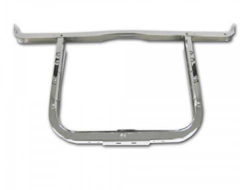 Classic Chevy - Radiator Support With Upper Bar, Chrome, 6 Cylinder, 1957