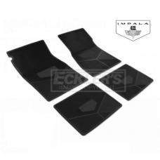 Legendary Impala 409 Floor Mat, Vinyl With Flag 1965-1966