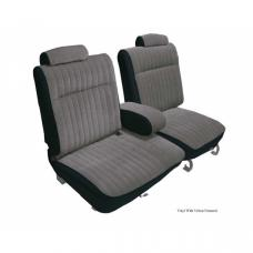 Malibu Seat Cover, Front Split Seat 55/45 With Center Arm Rest, Head Rests and Rear Bench, Vinyl, 1981-1983