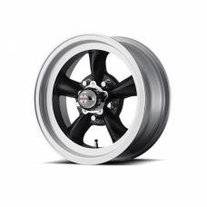 American Racing Torq-Thrust D Black W/ Machined Lip Wheel, 15X10