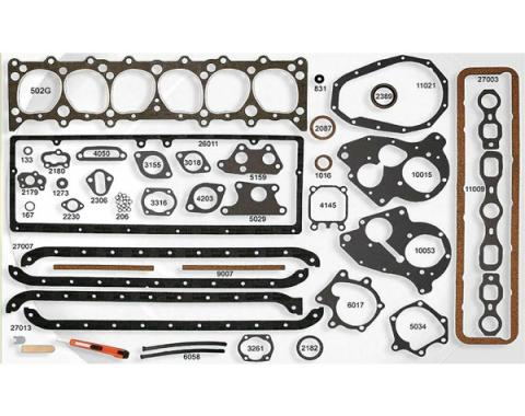Early Chevy Engine Gasket Set, Complete, 216 & 235 CI, 1949-1953