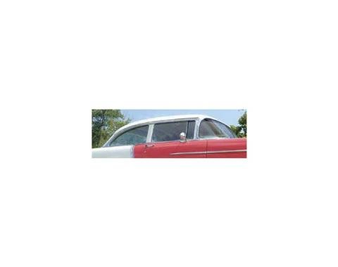 Chevy Door Glass, Installed In Lower Channel, Clear, 2-DoorSedan & Wagon, Right, 1955-1957