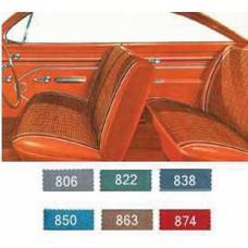 Full Size Chevy Preassembled Door Panel & Quarter Trim Panel Interior Kit Service, 2-Door Hardtop, Bel Air, 1961