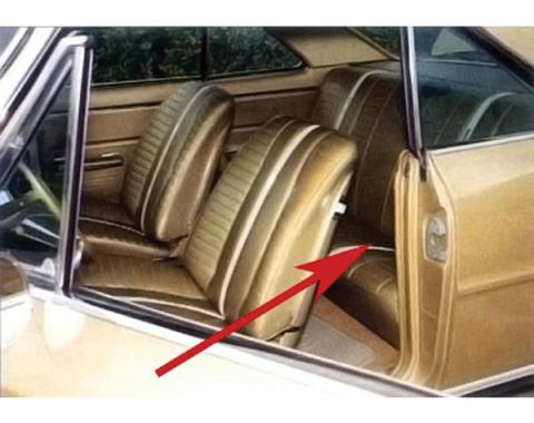 PUI 1967 Chevrolet Chevy II Rear Seat Covers, Coupe 67XSC