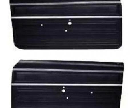 PUI 1968 Chevrolet Chevy II Preassembled Standard Front Door Panels PD360 | Black