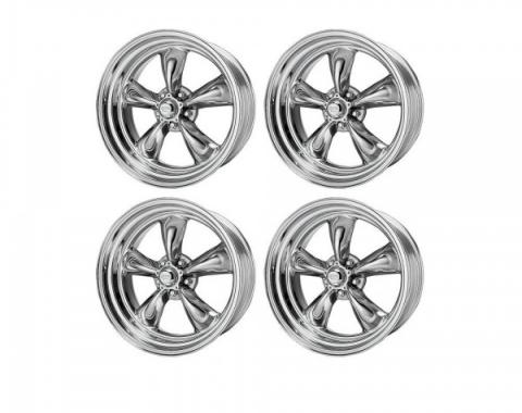 Chevy American Racing Torq Thrust II Wheel Set, Polished Aluminum, 15X7 & 15X8