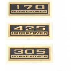 Full Size Chevy Valve Cover Horsepower Decal, 1958-1964