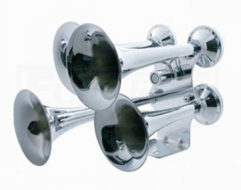 4 Trumpet Chrome Train Horn