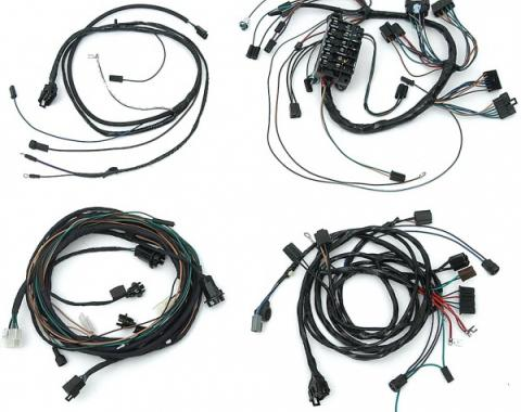 Full Size Chevy Wiring Harness Kit, 283ci/327ci, Small Block, Automatic Transmission With Column Shift & Warning Lights, Impala 2-Door Hardtop, 1965