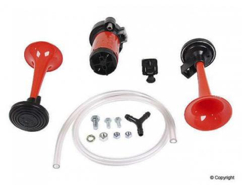Early Chevy Hella Air Horn, 2-Trumpet, Dual Tone Kit, Aftermarket, 1949-1954
