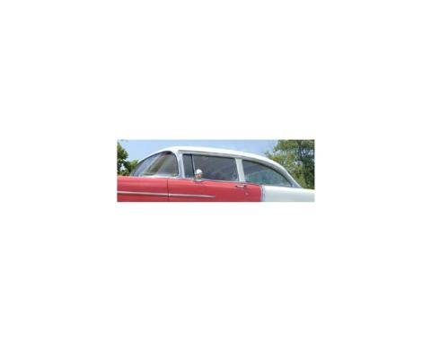 Chevy Side Glass Set, Date Coded, Clear, 2-Door Sedan, 1955-1957