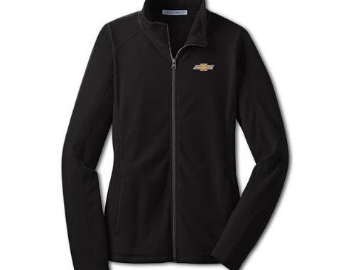 Chevy Jacket, Ladies, Full Zip Lightweight Microfleece , Black