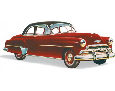 Chevy Windshield, Business Coupe, Sport Coupe And Styleline 2 & 4-Door, Sedan, Right, 1949-1952