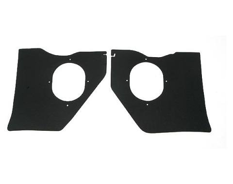 Full Size Chevy Kick Panels, For Cars Without Air Conditioning, Black, 1961-1962