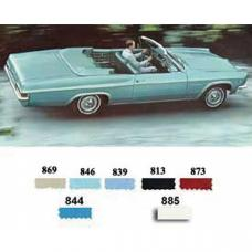PUI 1966 Chevrolet Impala Rear Door Panels, Convertible 66BDVP
