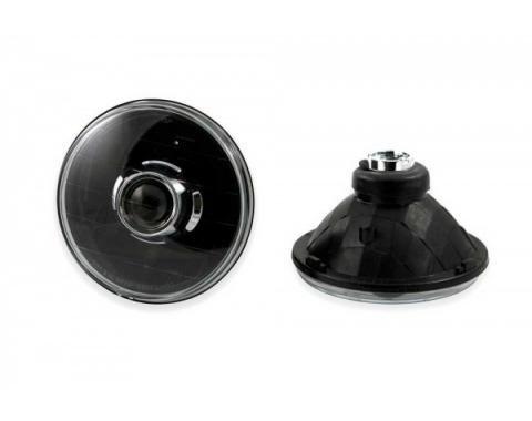 Chevelle - 7 Inch Round Projector Headlights, Black, 1971-1975