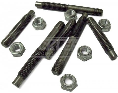 Early Chevy Exhaust Manifold Stud Kit, Steel, 1949-1954