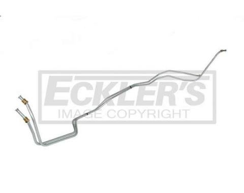 Chevy Transmission Cooler Line, Powerglide, V8, Cast Iron Case, Steel 1962-1964