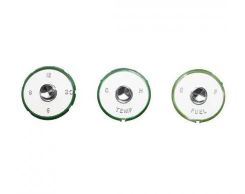 Trim Parts 61-62 Full-Size Chevrolet Instrument Lens Set, Wesclox, 4 pieces 2099