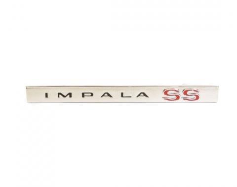 Trim Parts 66 Impala SS Glove Box Door Emblem, Impala SS, Each 2590