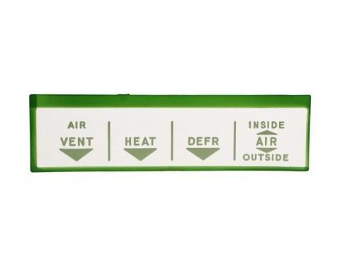Trim Parts 57 Full-Size Chevrolet Heater Control Face, Each 1435