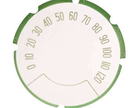Trim Parts 57 Full-Size Chevrolet Speedometer Face, Each 1414
