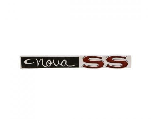 Trim Parts 63-64 Nova Glove Box Door Emblem, Nova SS, Each 3025