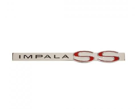 Trim Parts 62 Full-Size Chevrolet Trunk Emblem, Impala SS, Each 2191