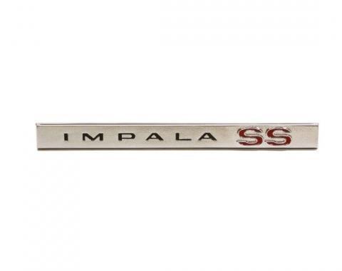 Trim Parts 65 Impala SS Rear Lower Molding Emblem, Impala SS, Each 2462