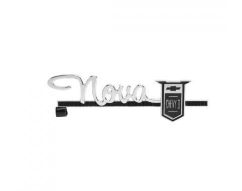 Trim Parts 63-64 Chevy II and Nova Glove Box Door Emblem, Nova Chevy II, Each 3024