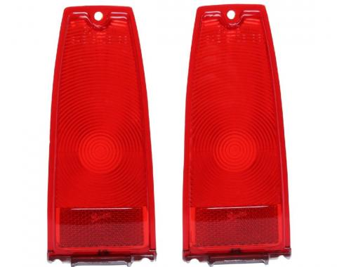 Trim Parts 66-67 Chevy II and Nova Red Tail Light Lens, Pair A3047