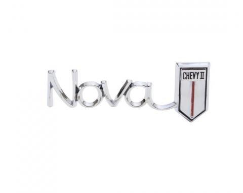 Trim Parts 66 Chevrolet I and Nova Glove Box Door Emblem, Nova/Chevy II, Each 3039