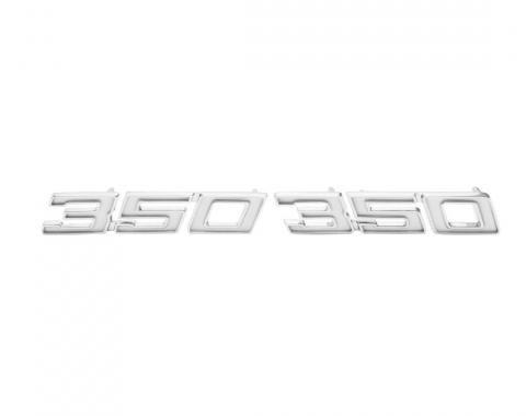 Trim Parts 69-70 Full-Size Chevrolet Front Fender Emblem, 350, Pair 4651