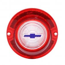 Trim Parts 63 Full-Size Chevrolet Red Back Up Light Lens with Blue Bowtie, Each A2260F