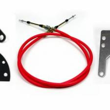"""ididit Cable Shift Linkage, Ford 2 1/4"""" Column - 4R70W/AODE Transmission 2802650010"""