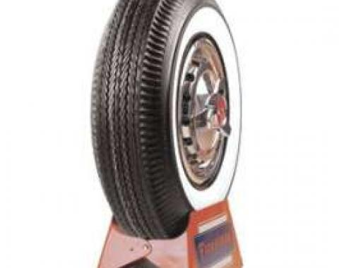 Chevy Tire, 750 x 14, With 2-1/4 Wide Whitewall, Firestone, 1957