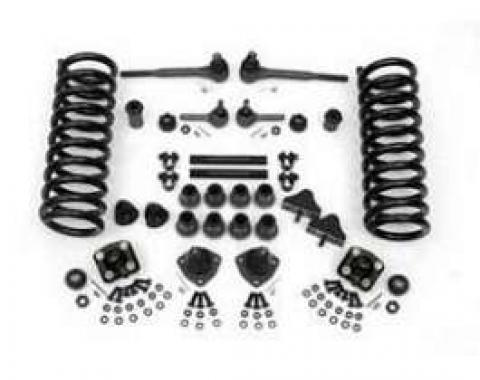 Chevy Front End Rebuild Kit, Except Power Steering, With 2Lowering Springs, 1955-1957