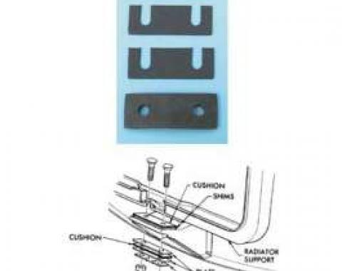 Chevy Radiator Saddle Shim Set, 1955-1957